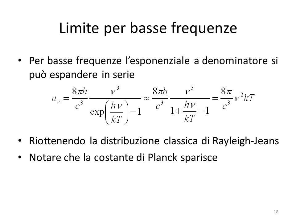 Limite per basse frequenze