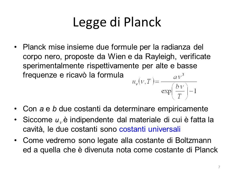 Legge di Planck