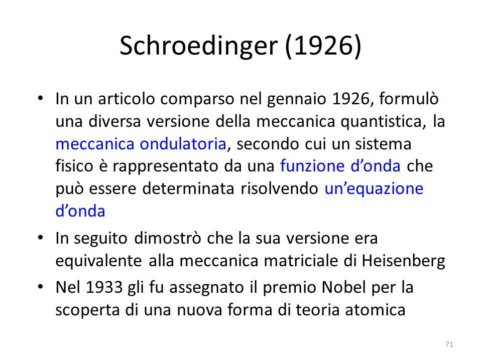 Schroedinger (1926)