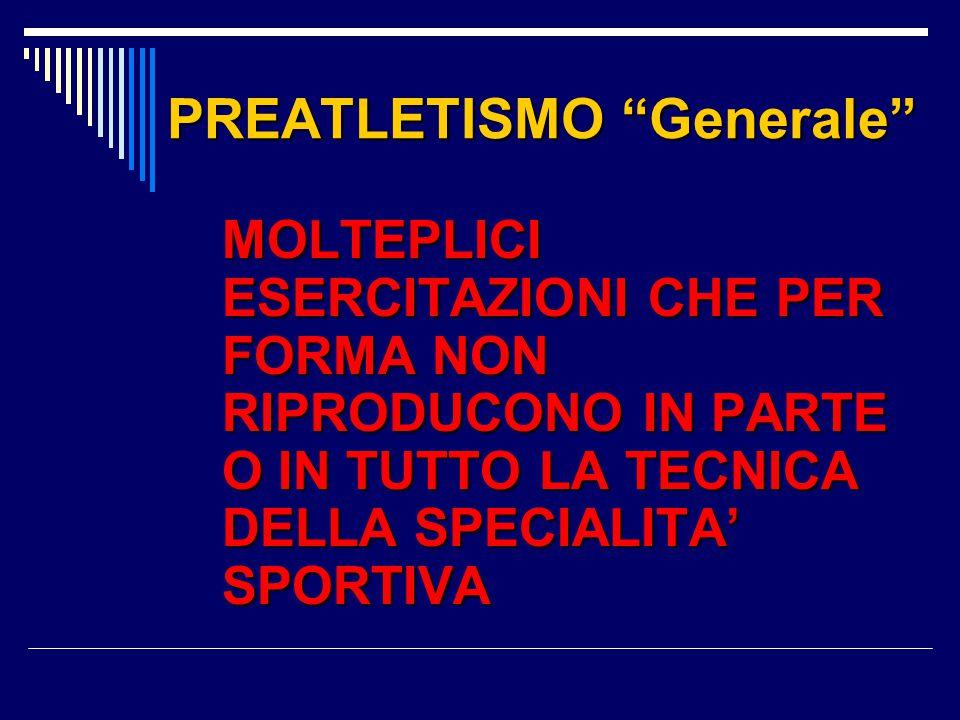 PREATLETISMO Generale