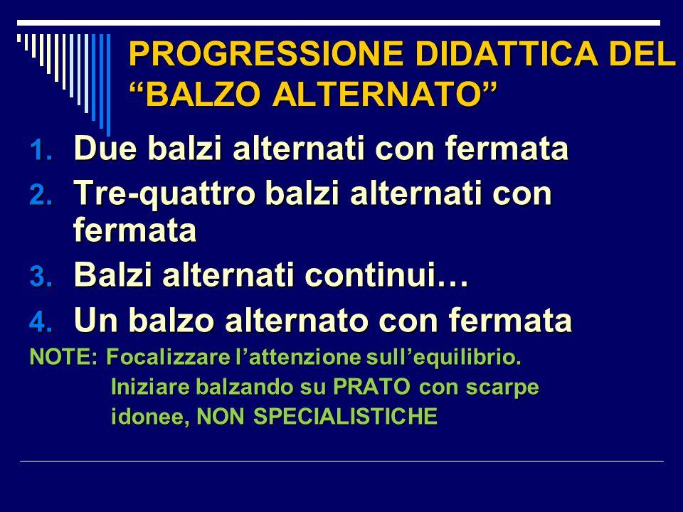 PROGRESSIONE DIDATTICA DEL BALZO ALTERNATO