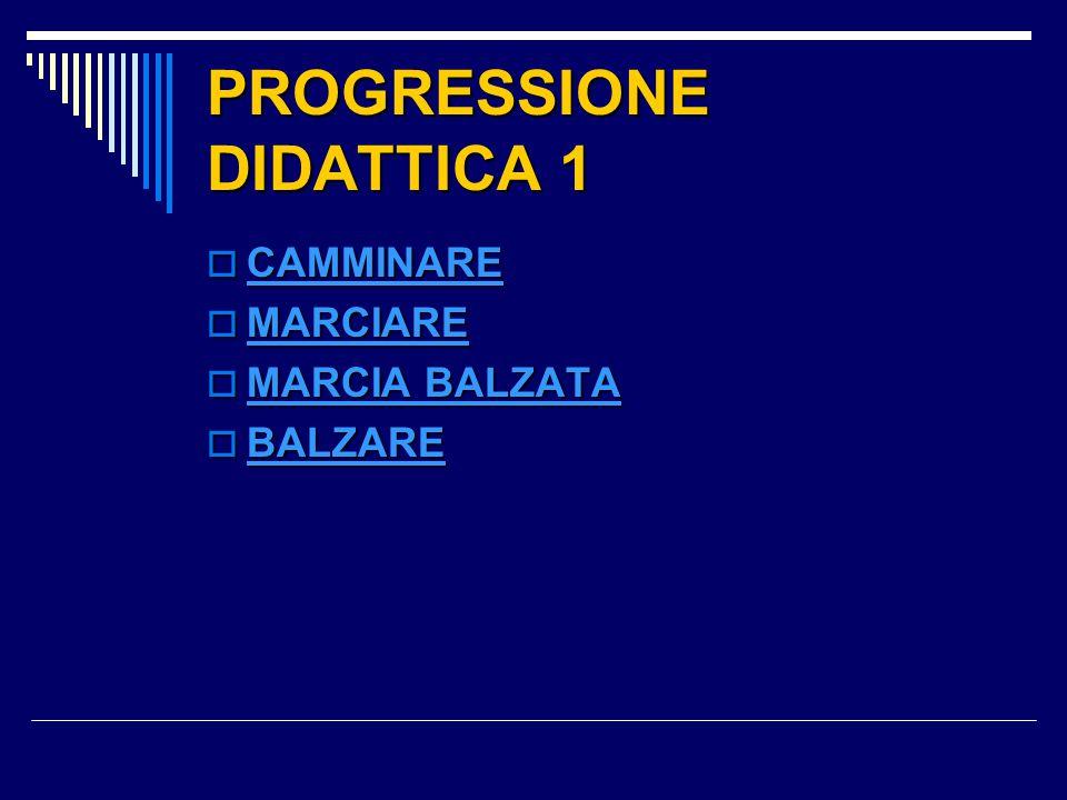 PROGRESSIONE DIDATTICA 1