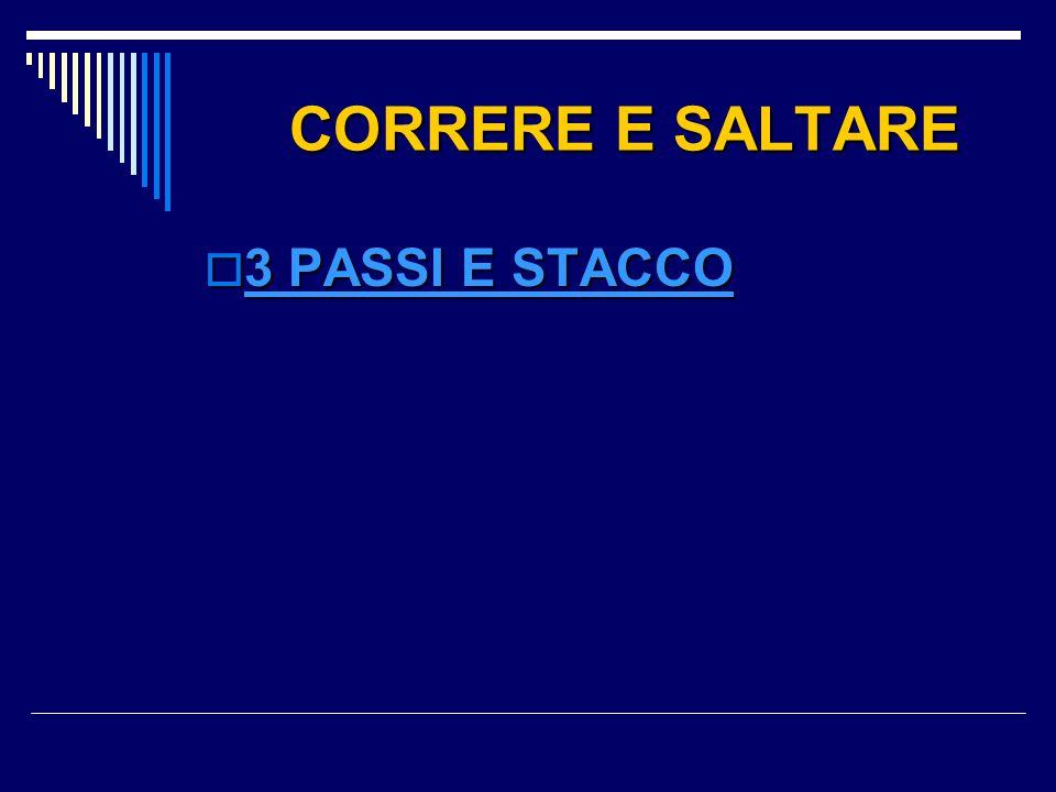 CORRERE E SALTARE 3 PASSI E STACCO