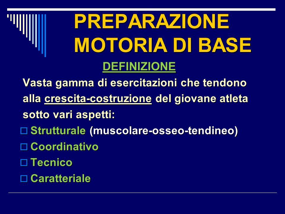 PREPARAZIONE MOTORIA DI BASE