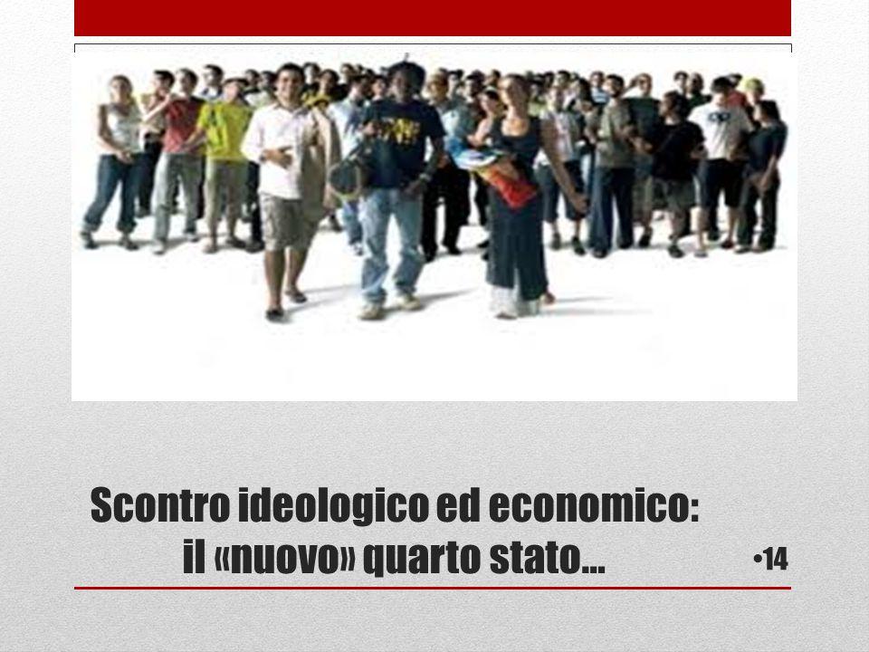 Scontro ideologico ed economico: il «nuovo» quarto stato…