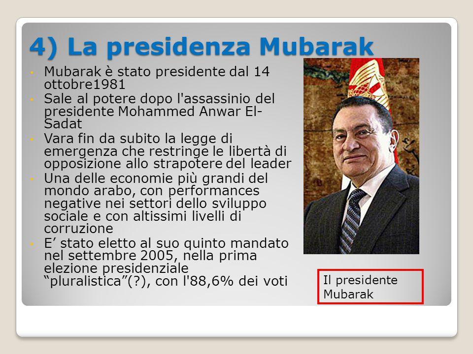 4) La presidenza Mubarak