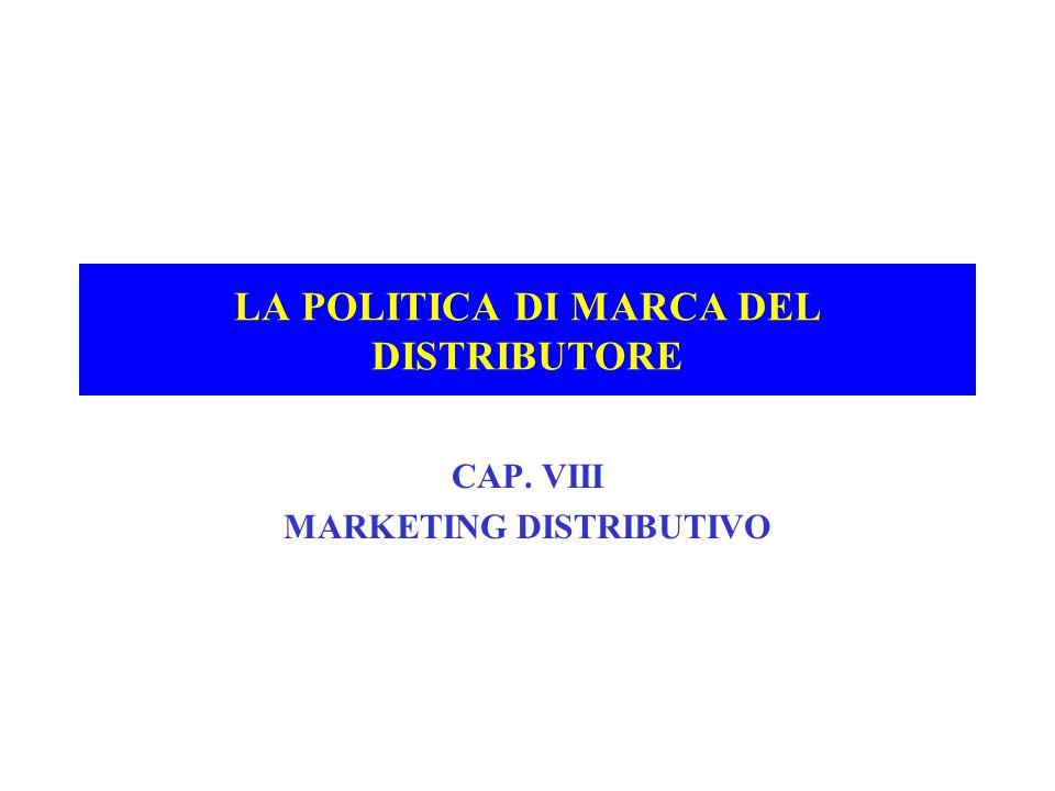 LA POLITICA DI MARCA DEL DISTRIBUTORE