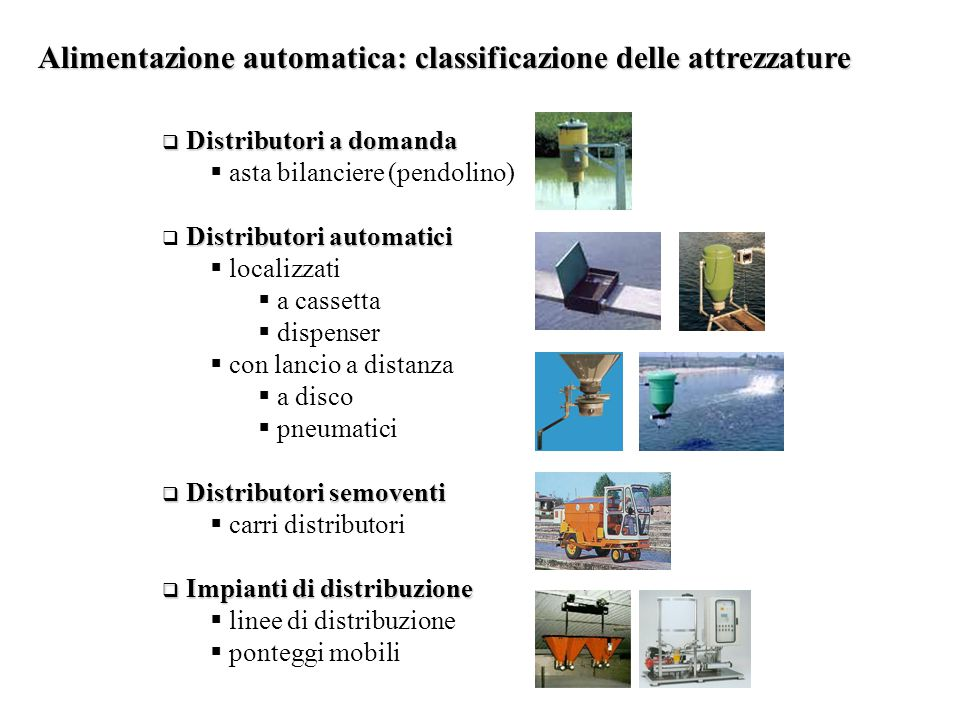 Alimentazione automatica: classificazione delle attrezzature