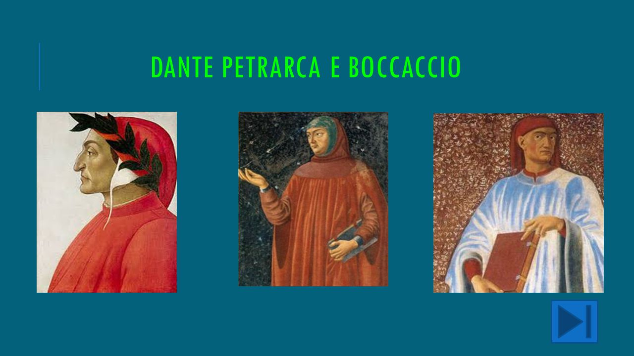 Dante petrarca e boccaccio