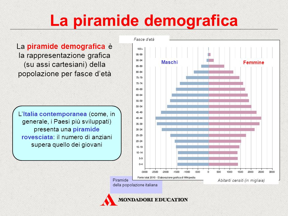 La piramide demografica