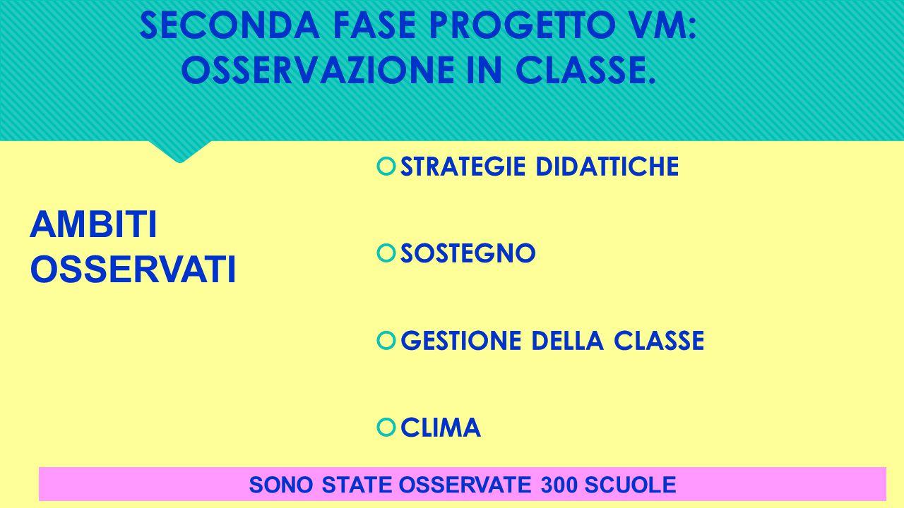 SECONDA FASE PROGETTO VM: OSSERVAZIONE IN CLASSE.