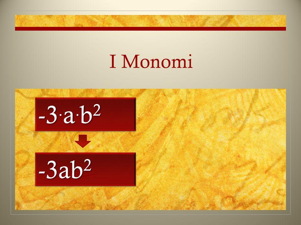 I Monomi -3.a.b2 -3ab2