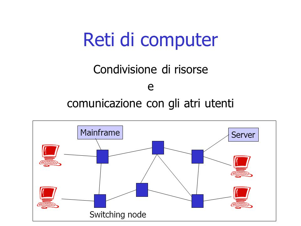 Reti di computer Condivisione di risorse e