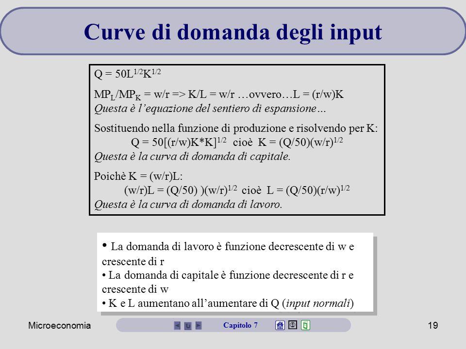 Curve di domanda degli input