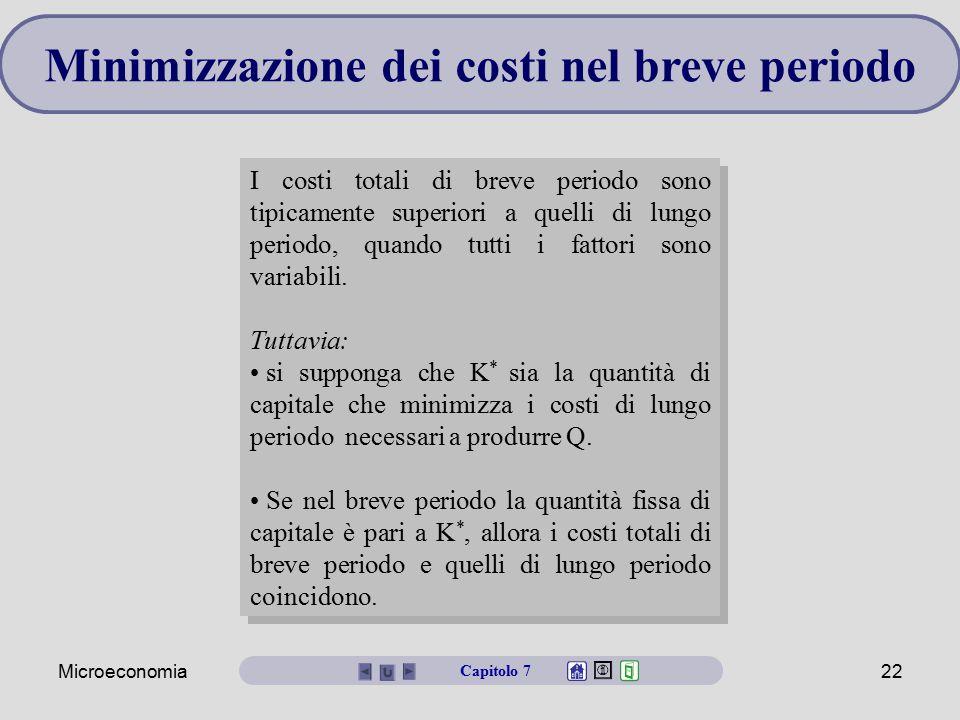 Minimizzazione dei costi nel breve periodo
