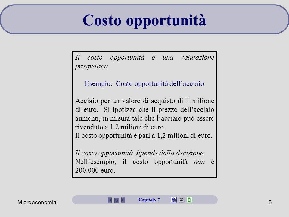 Esempio: Costo opportunità dell'acciaio