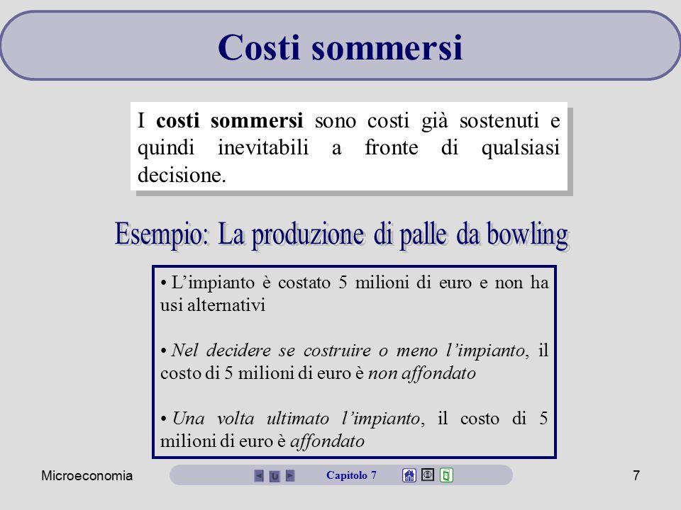 Esempio: La produzione di palle da bowling