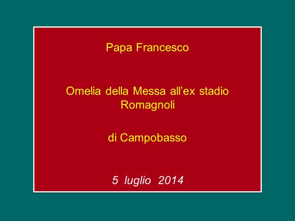 Papa Francesco Omelia della Messa all'ex stadio Romagnoli di Campobasso 5 luglio 2014