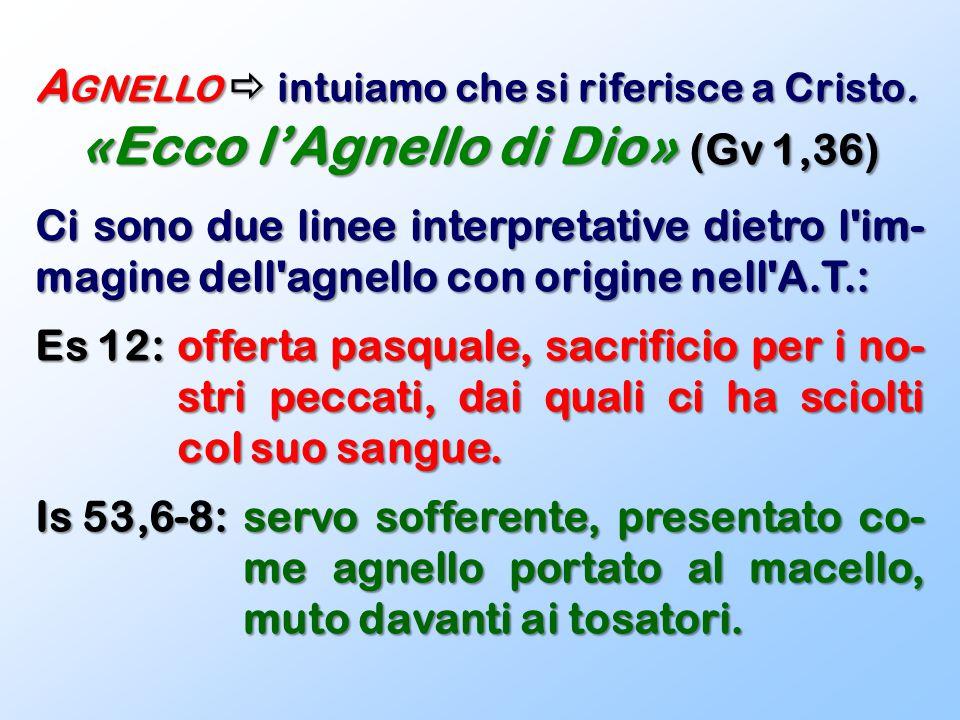 «Ecco l'Agnello di Dio» (Gv 1,36)