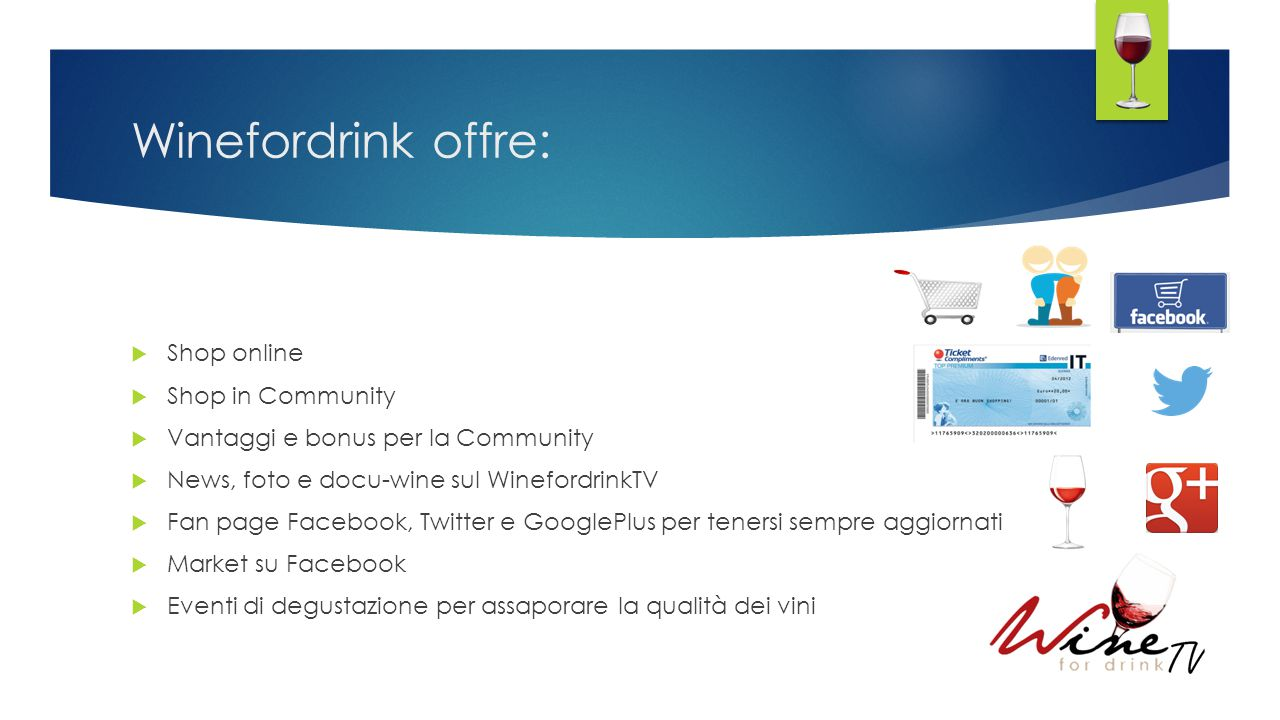 Winefordrink offre: Shop online Shop in Community