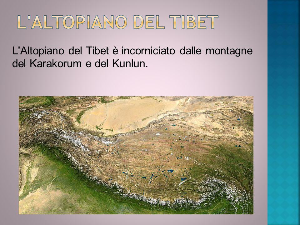 L Altopiano del Tibet L Altopiano del Tibet è incorniciato dalle montagne del Karakorum e del Kunlun.