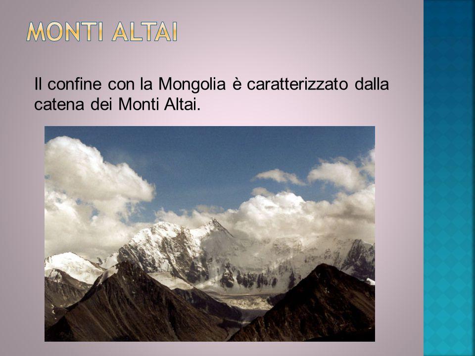 Monti Altai Il confine con la Mongolia è caratterizzato dalla catena dei Monti Altai.