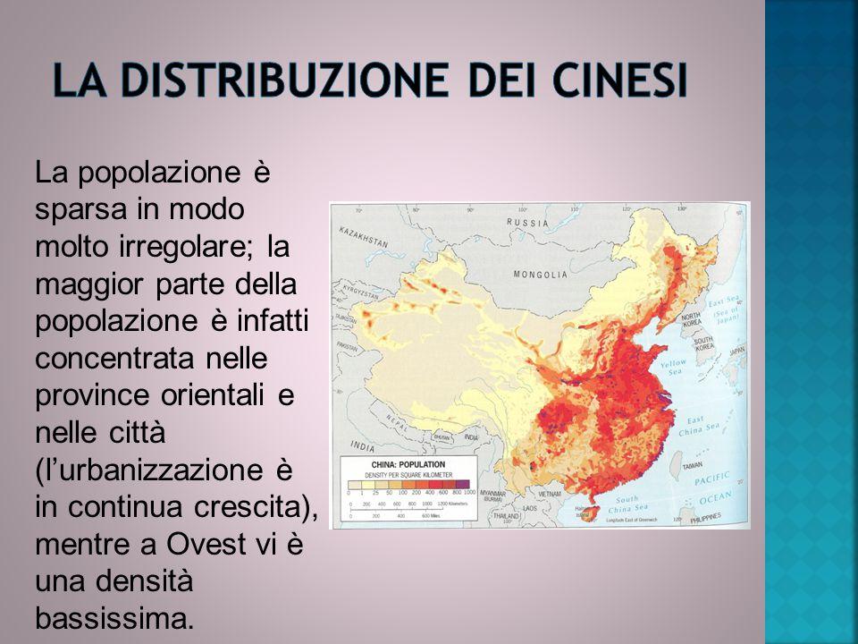 La distribuzione dei cinesi