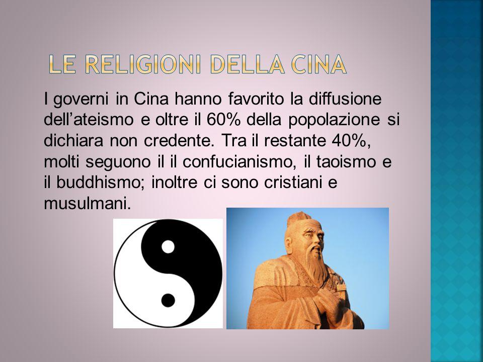 Le religioni della Cina