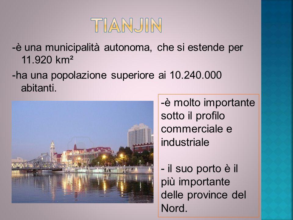 Tianjin -è molto importante sotto il profilo commerciale e industriale