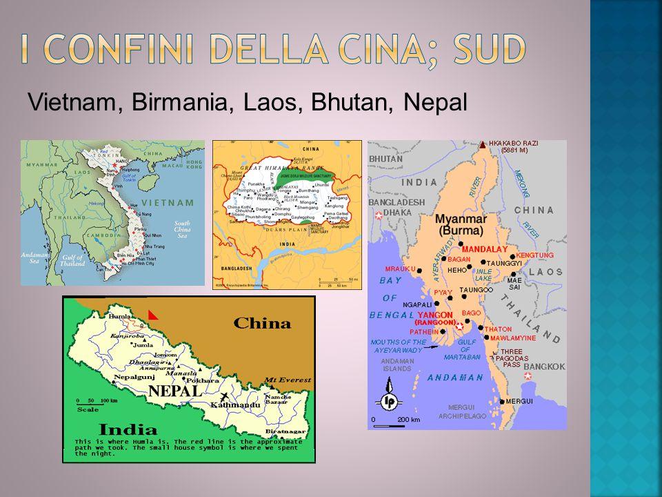 I confini della Cina; Sud