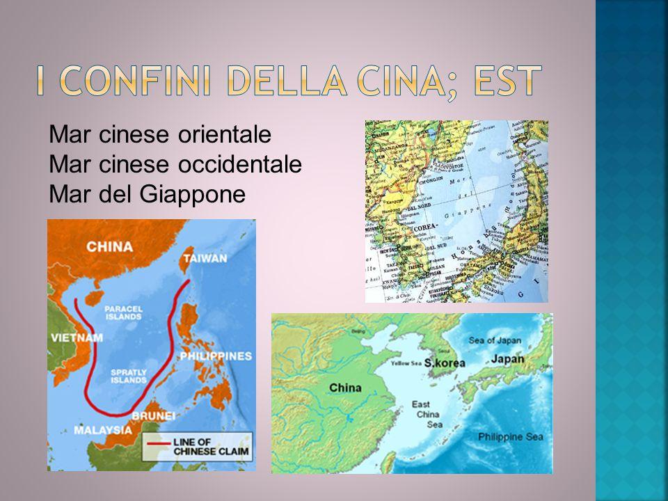 I confini della Cina; Est