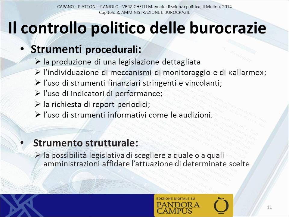 Il controllo politico delle burocrazie