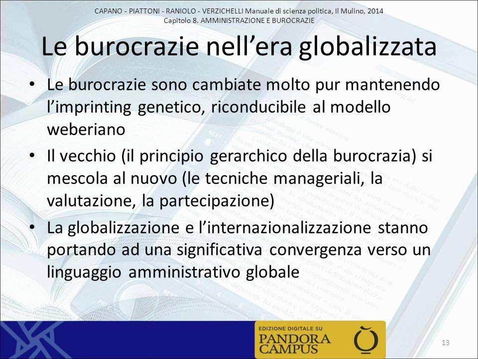 Le burocrazie nell'era globalizzata