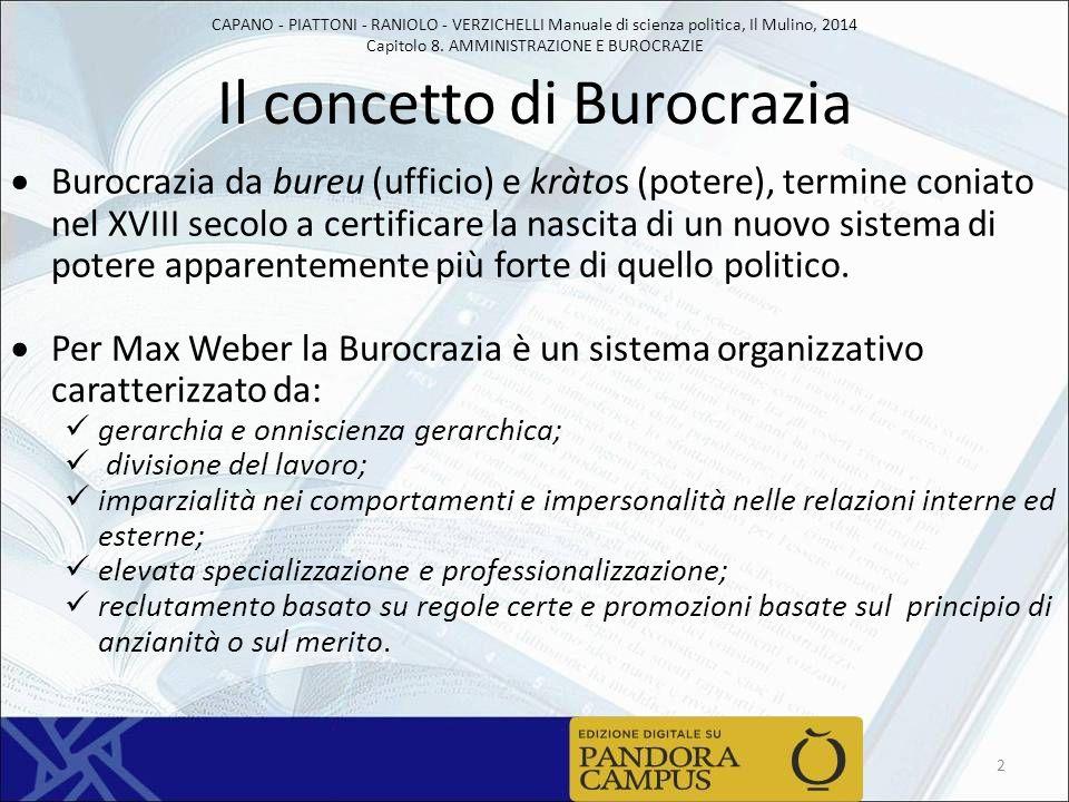 Il concetto di Burocrazia