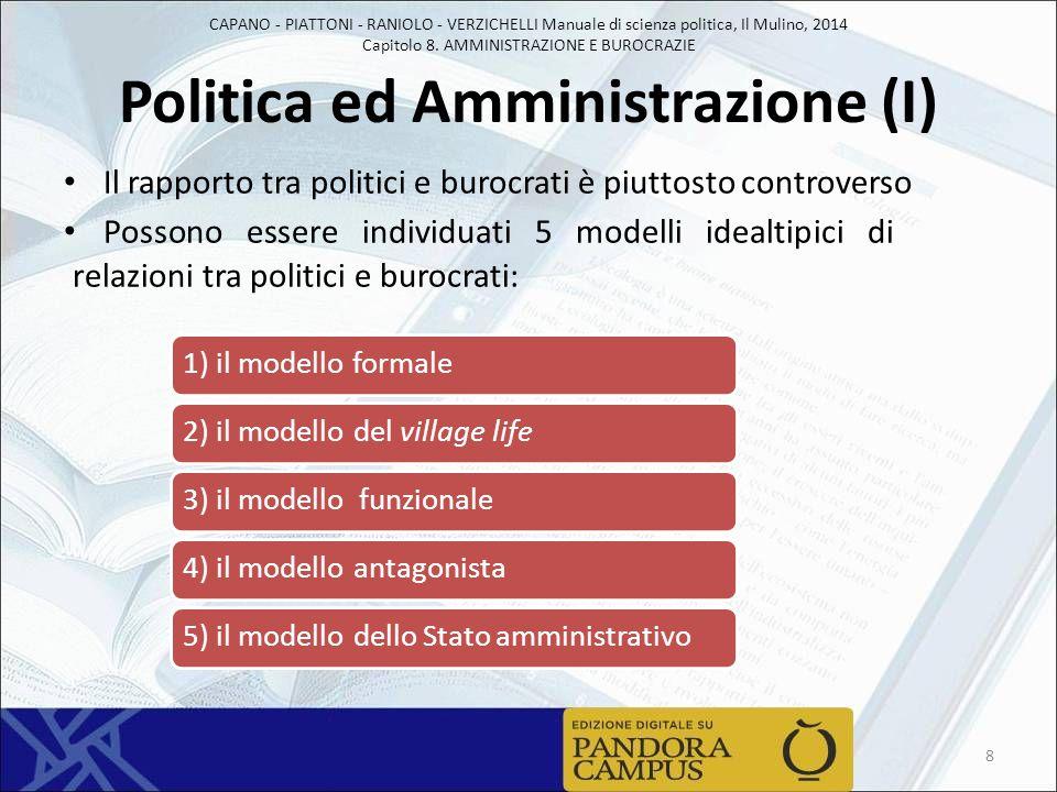 Politica ed Amministrazione (I)
