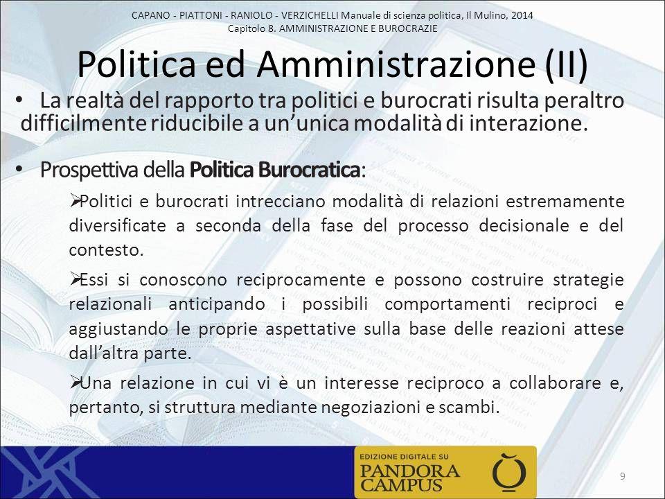 Politica ed Amministrazione (II)