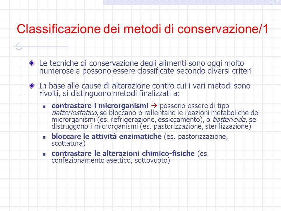 Classificazione dei metodi di conservazione/1