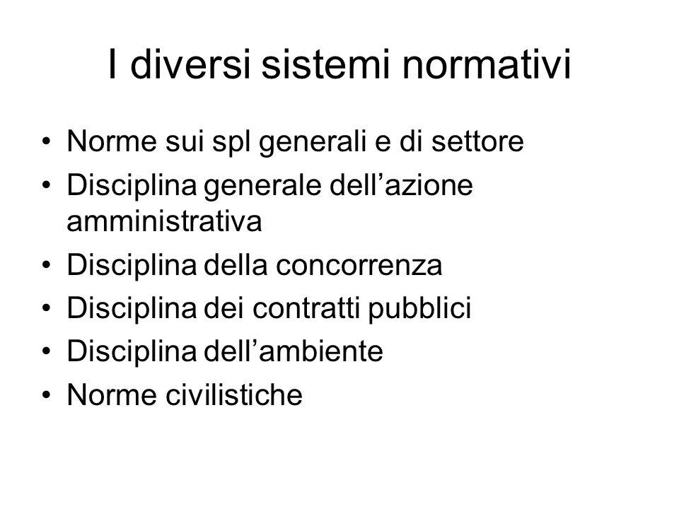 I diversi sistemi normativi