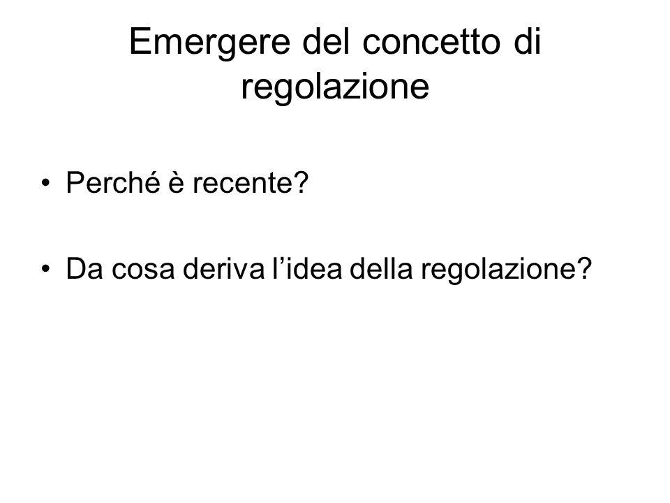 Emergere del concetto di regolazione