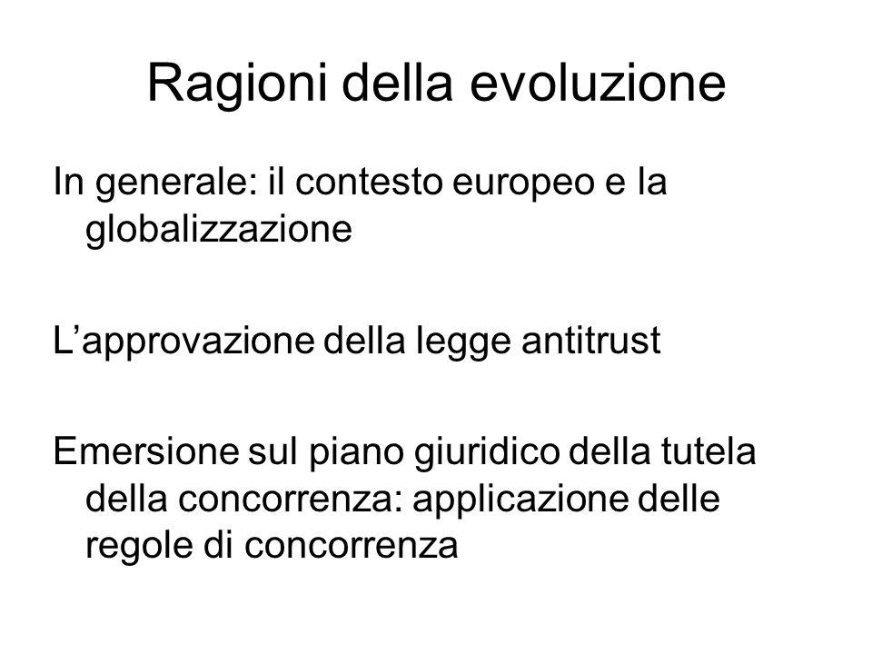 Ragioni della evoluzione