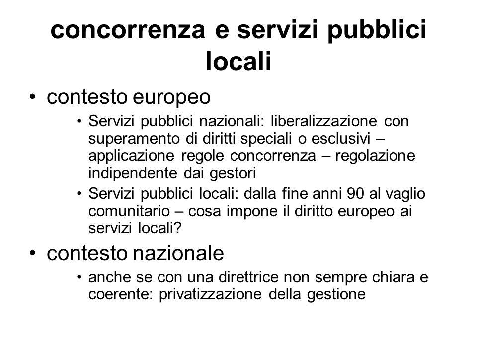 concorrenza e servizi pubblici locali