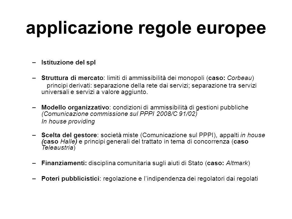 applicazione regole europee