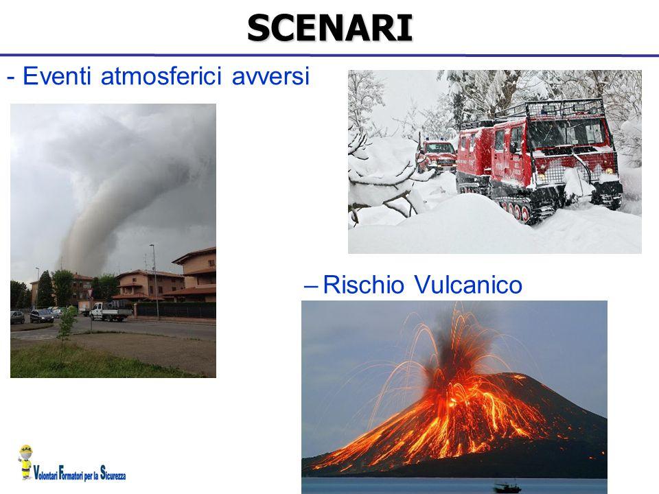 SCENARI - Eventi atmosferici avversi Rischio Vulcanico 15 15 15