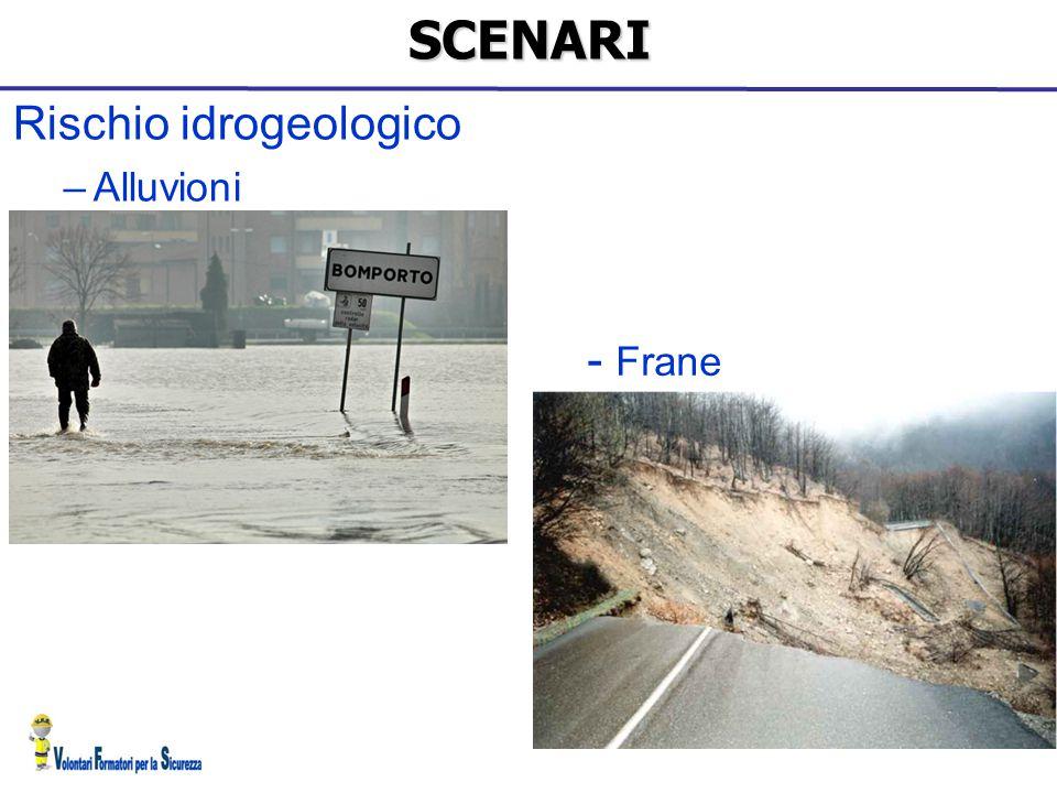 SCENARI Rischio idrogeologico Alluvioni - Frane 16 16 16