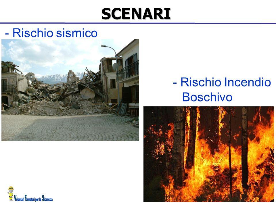 SCENARI - Rischio sismico - Rischio Incendio Boschivo 17 17 17