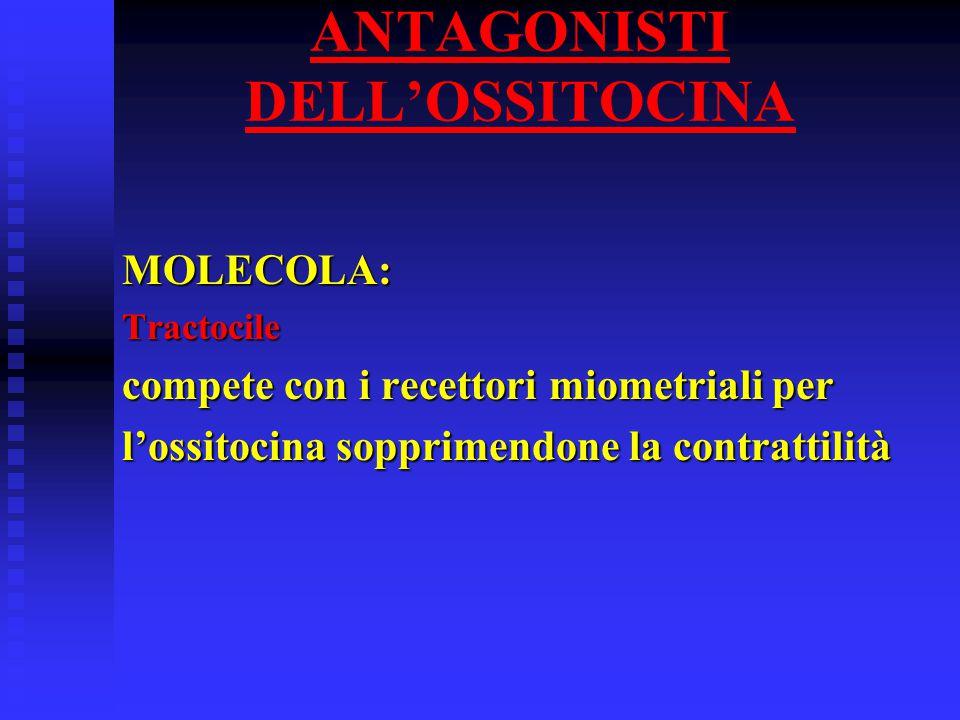 ANTAGONISTI DELL'OSSITOCINA