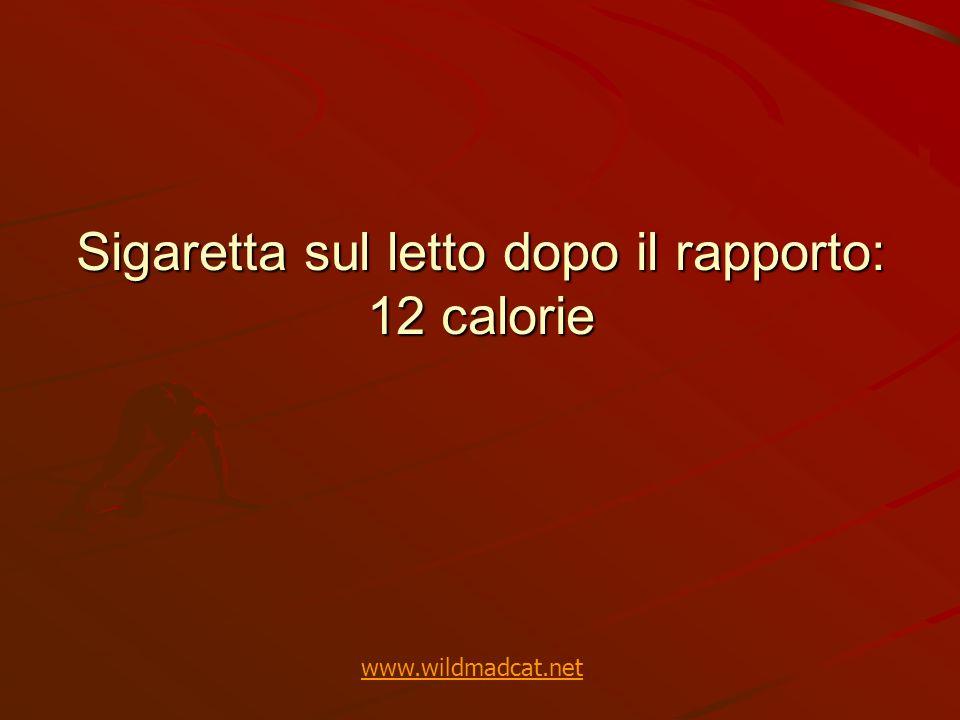Sigaretta sul letto dopo il rapporto: 12 calorie