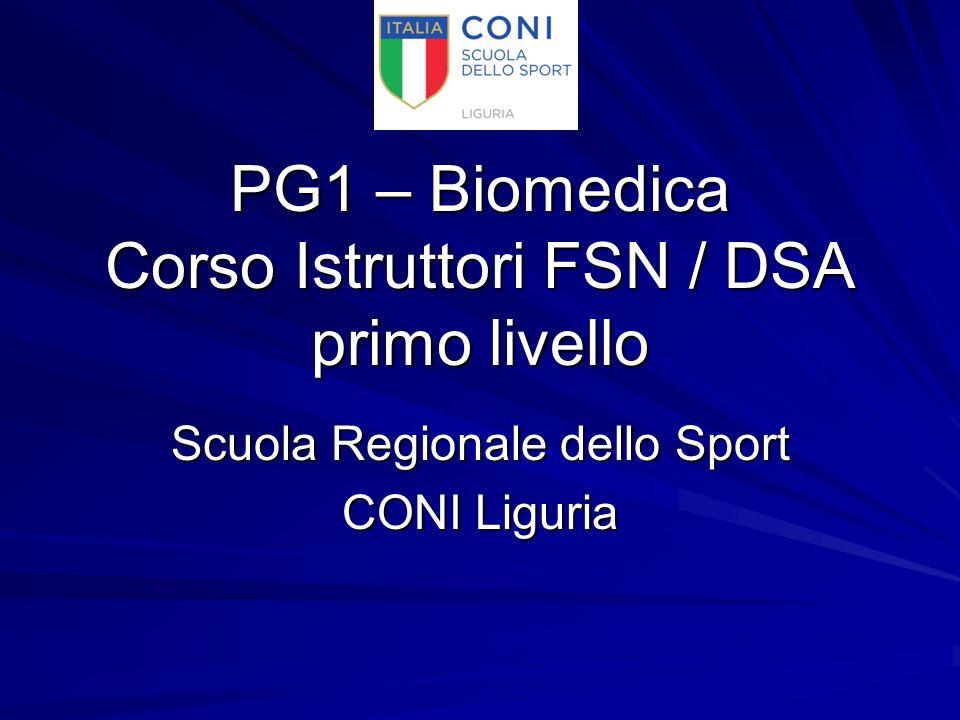 PG1 – Biomedica Corso Istruttori FSN / DSA primo livello