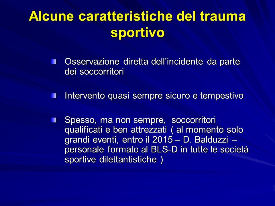 Alcune caratteristiche del trauma sportivo