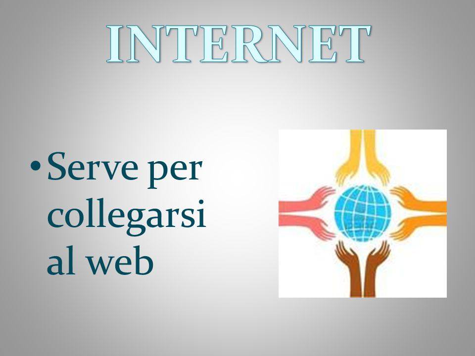INTERNET Serve per collegarsi al web